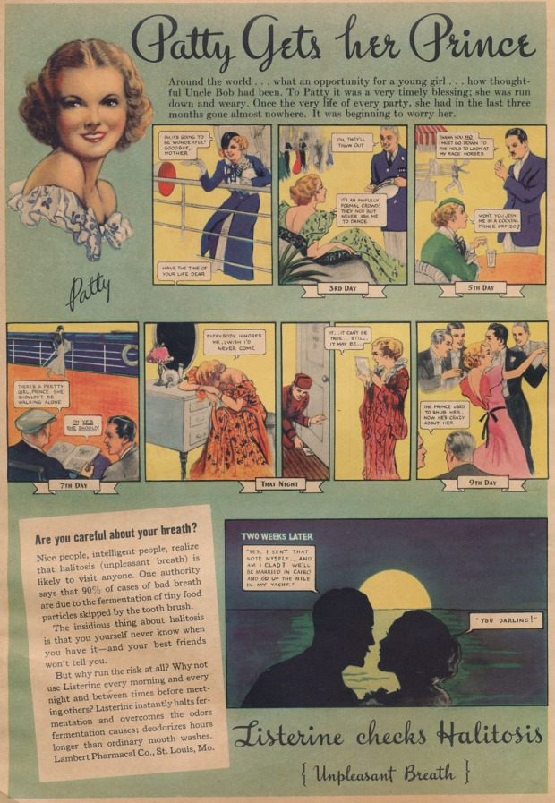 Listerine ad, date unknown.