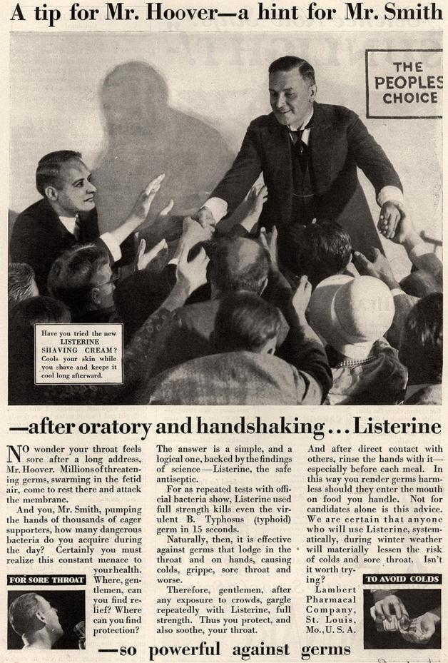 Listerine Ad with President Hoover - 1929