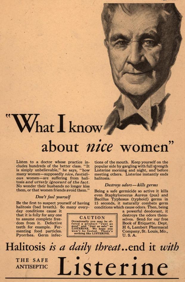 Listerine Ad - 1929