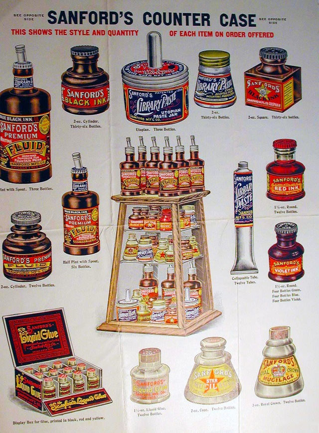 Sanford line of products, date unknown