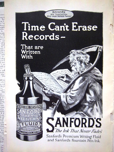 1920 ad from the Sanford Manufacturing Co. of Chicago