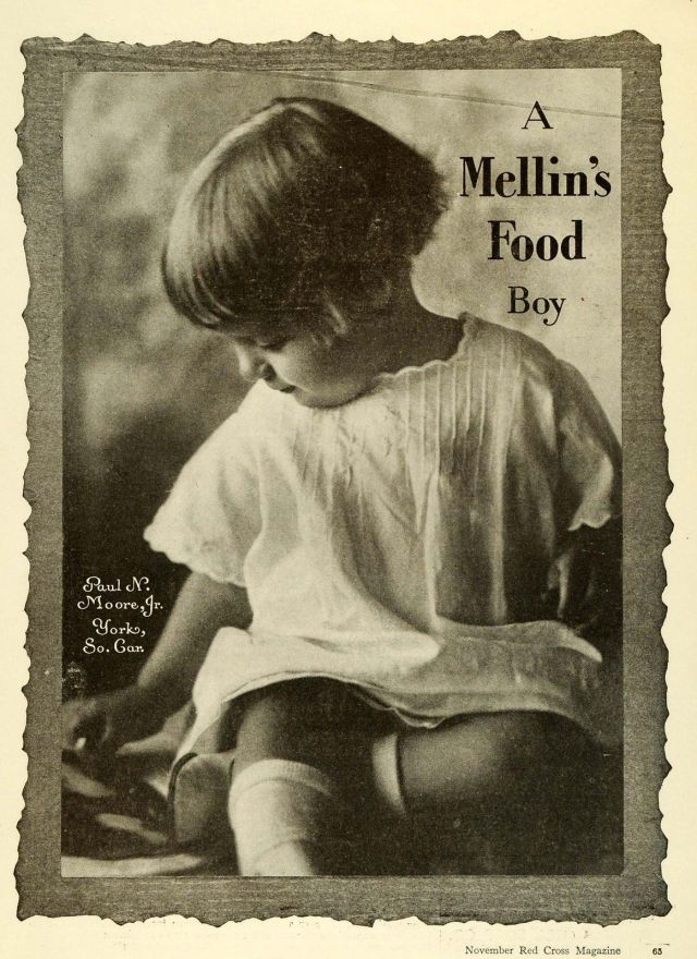 1919 Ad for Mellins Food