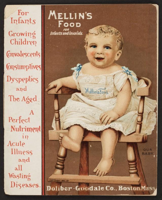1891 pamphlet for Mellin's Food for Infants