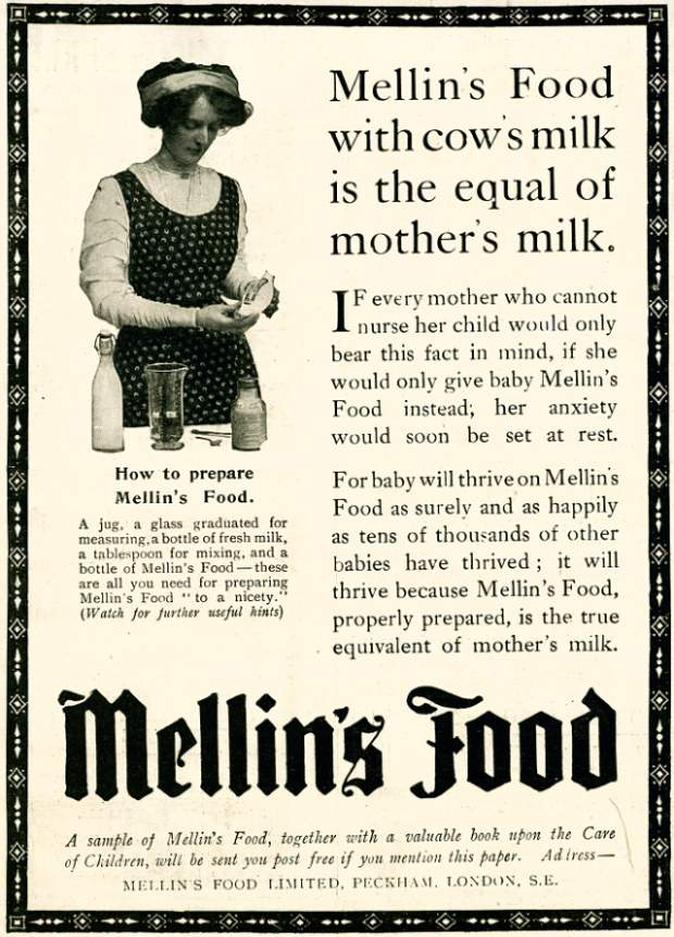1910 Mellins food ad