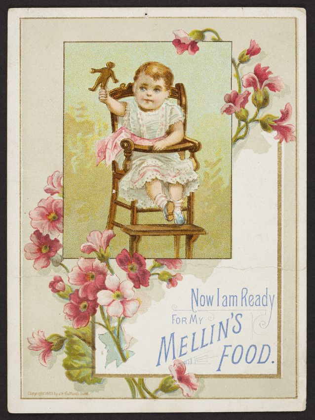 1883 Trade card for Mellin's Food,
