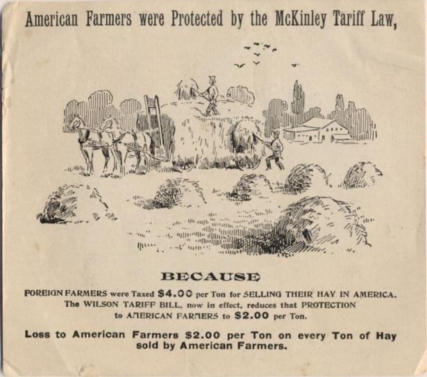 Pro McKinley Vs. Wilson Handbill Broadside, 1916