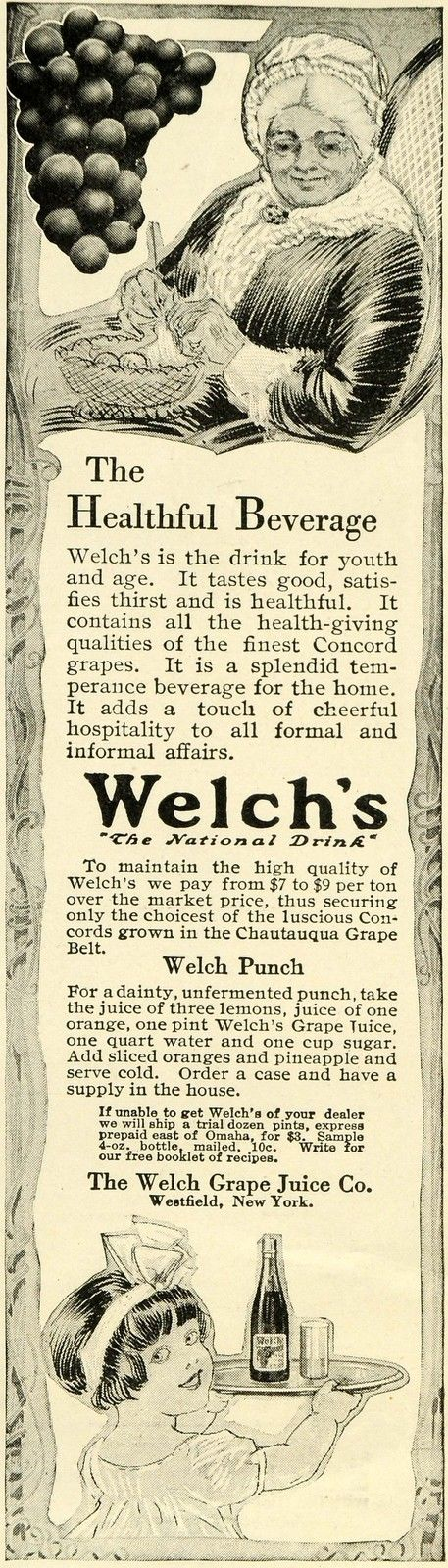 1913 Ad for Welch's Grape Juice