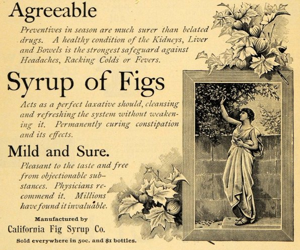 1895 Ad for California Fig Syrup Co.