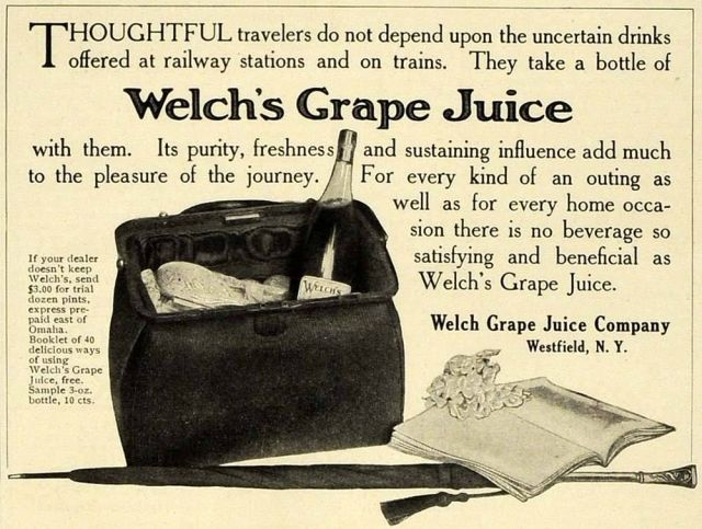 1906 ad for Welch's Grape Juice