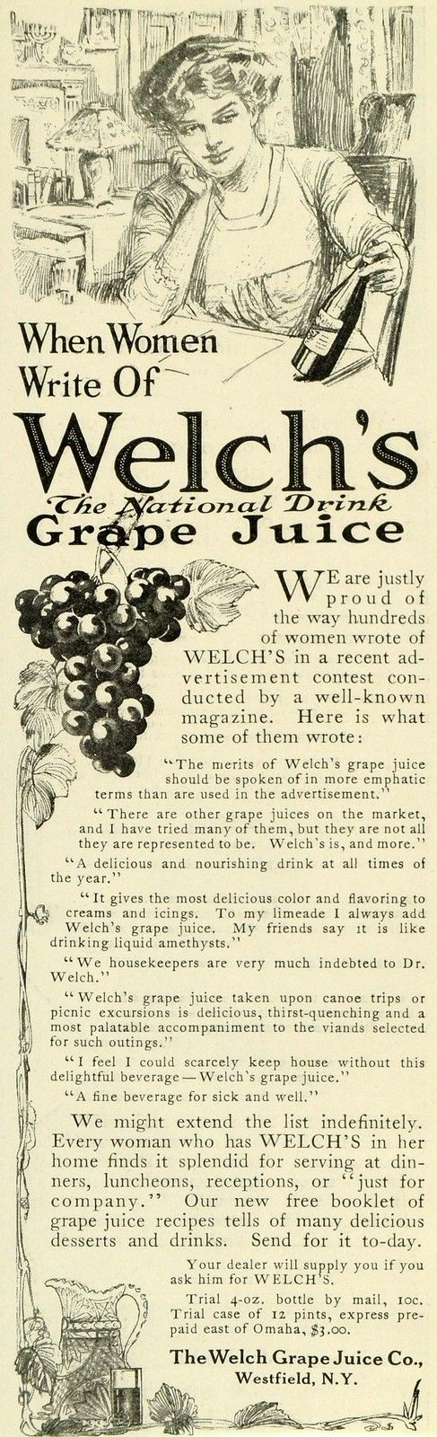 1911 Ad for Welch's Grape Juice