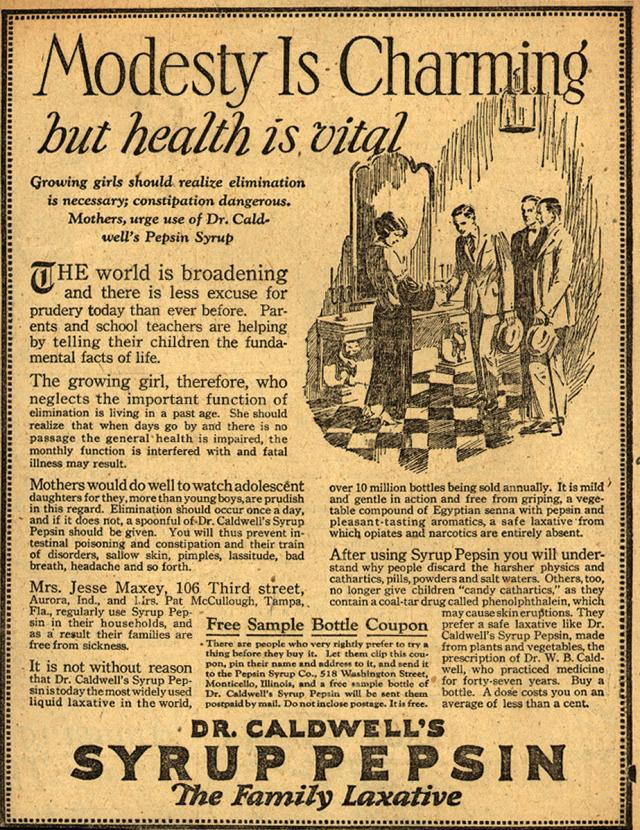 1924 ad from New York Evening Journal