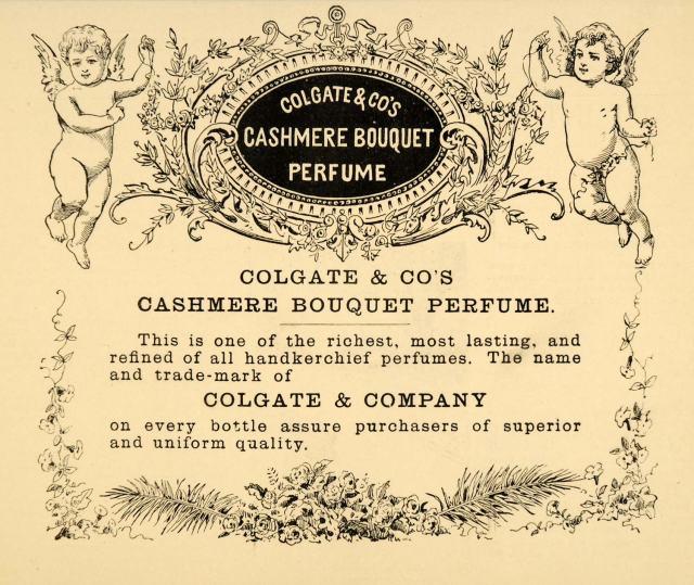 Colgate's Cashmere Bouquet Perfume Ad, 1885