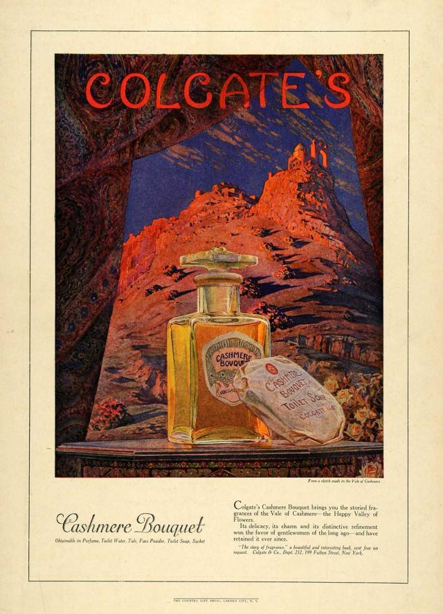 Colgate's Cashmere Bouquet Perfume Ad 1922
