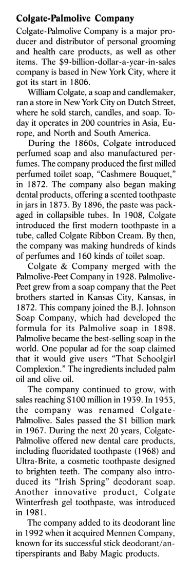 """Excerpt from """"For Appearance' Sake: The Historical Encyclopedia of Good Looks, Beauty, and Grooming"""" by Victoria Sherrow, 2001, pgs 78-79."""