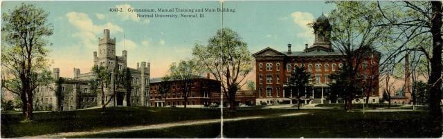 Gymnasium, Manual Training and Main Building, Normal University, Normal [1914]