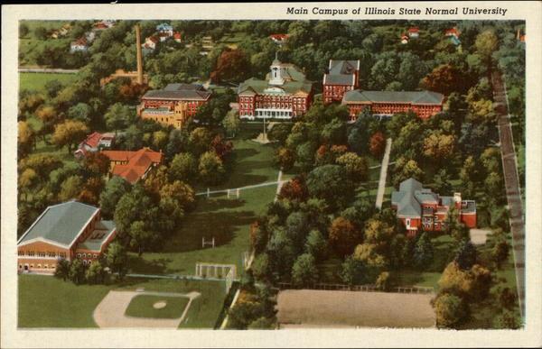 ISNU campus aerial view 1940 postcard1