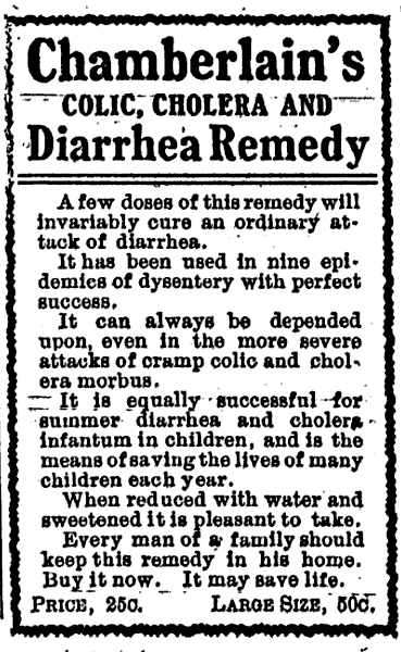 Chamberlain's ad, the Ellensburg Dawn - Jun 8, 1905