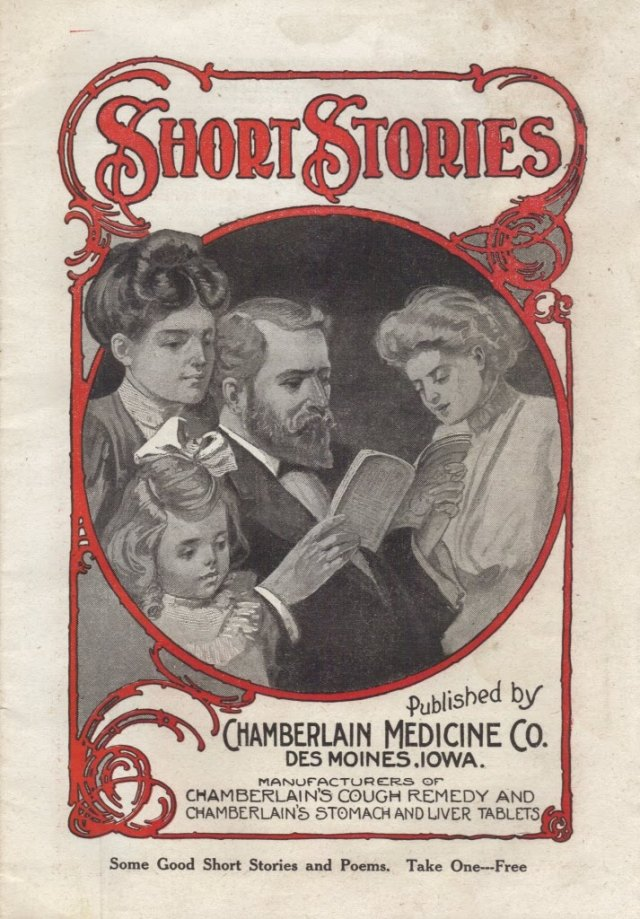Image from a 16-page pamphlet of short stories, c. 1910, published by the Chamberlain Medicine Co.The pamphlet was only one of many advertising vehicles used by the patent medicine industry.