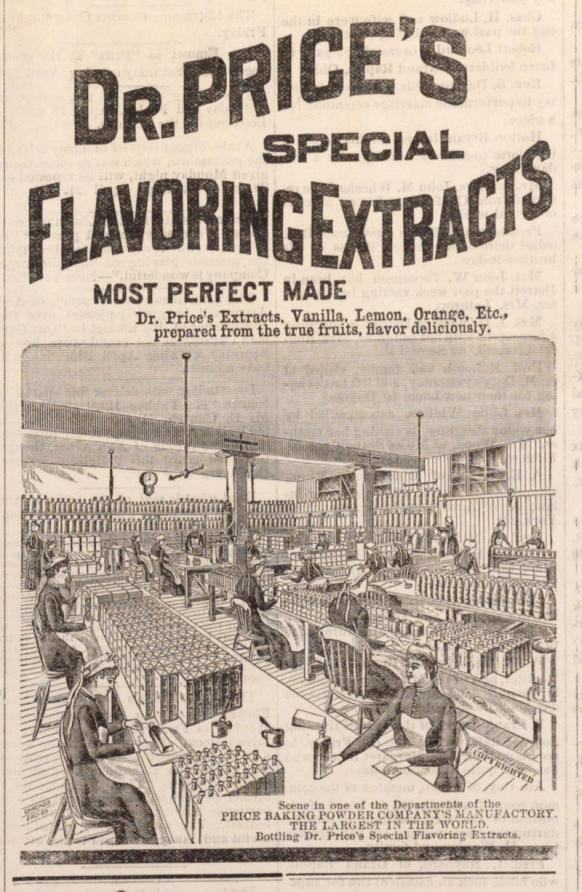 Ad for Dr. Price's Special Flavoring Extracts, Ann Arbor Courier, April 20, 1887