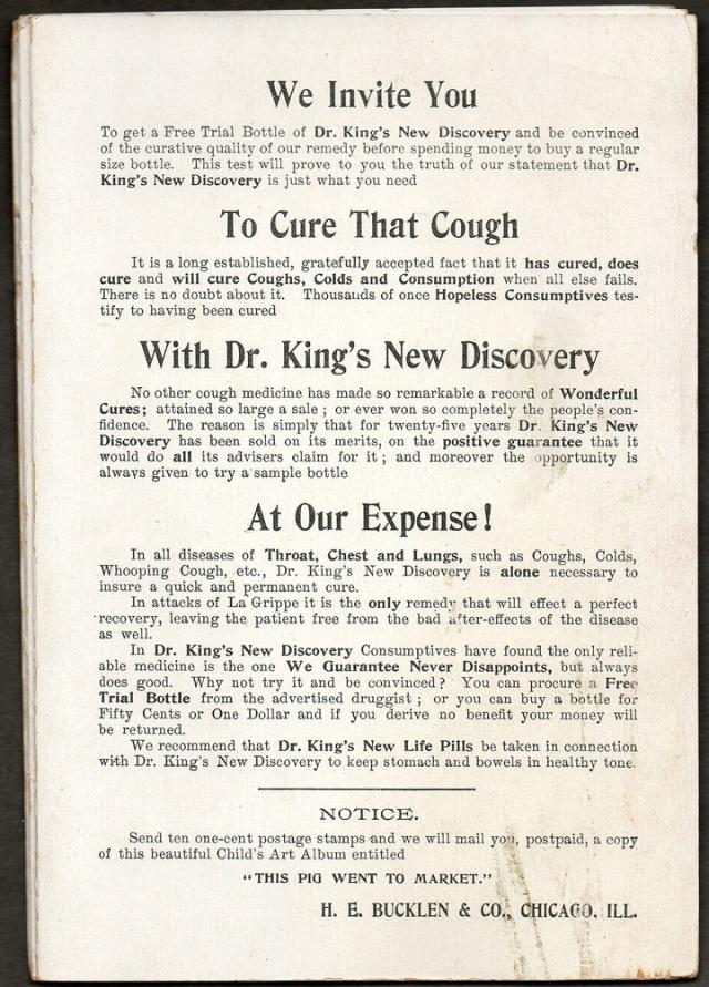 1894 H.E. Bucklen & Co., Chicago Advertising Trading Card.