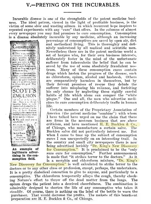 The Great American Fraud, Samuel Hopkins Adams, 1906, pg 45