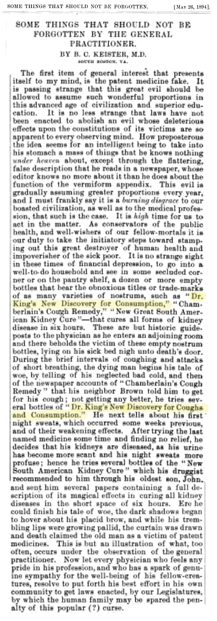 The Journal of the American Medical Association. American Medical Association, Vol 22, 1894, pg 788