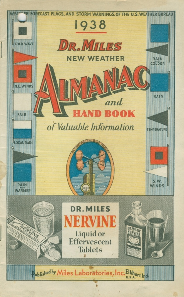 Dr. Miles New Weather Almanac and Hand Book, 1938