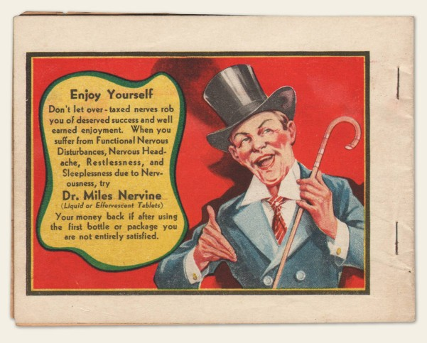"This is a 1930s Advertising Promotional Giveaway entitled ""Dr. Miles New Joke Book."""