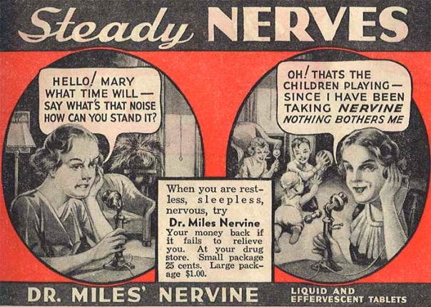 1930s Ad for Miles' Nervine