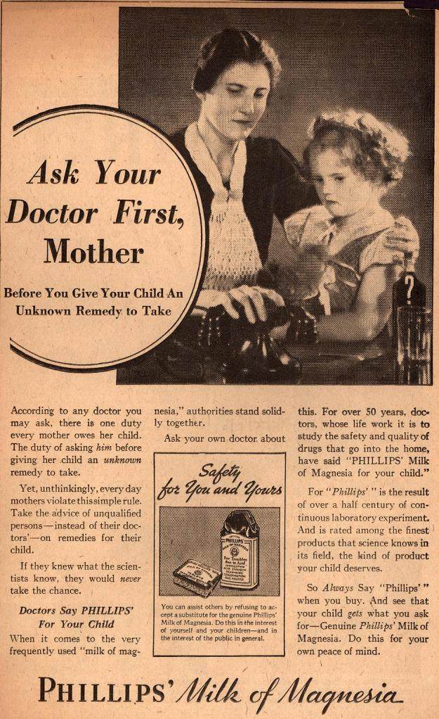 Ad from New York American, 1934