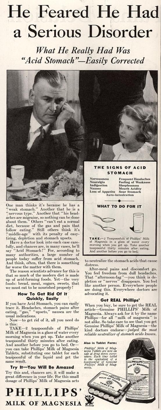 Ad from Saturday Evening Post, 1934