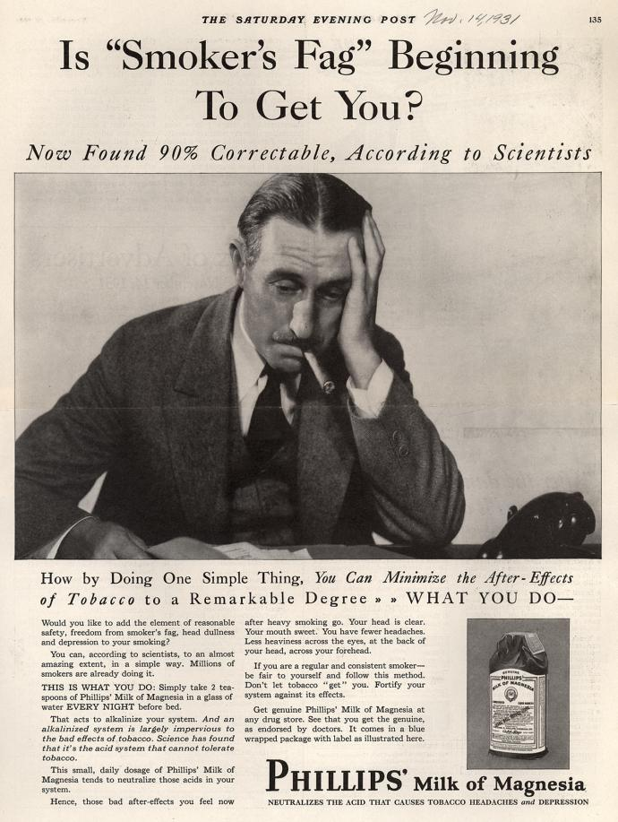 Ad from Saturday Evening Post, 1931