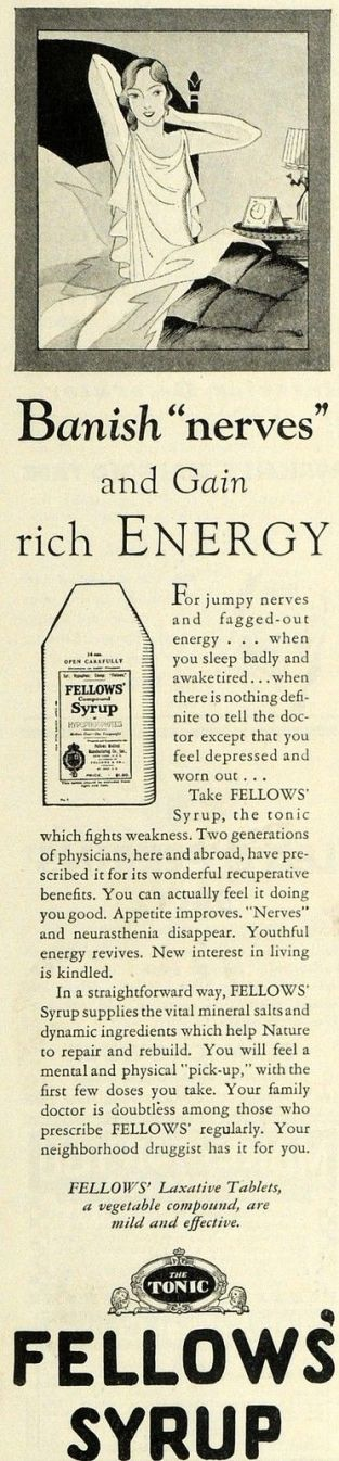 1930 Ad for Fellows Syrup