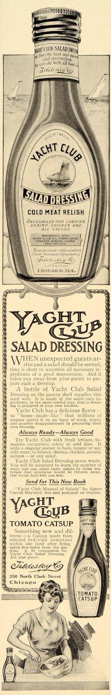 1914 Ad for Yacht Club Salad Dressing