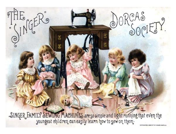 Ad for Singer Sewing machines, date unknown.