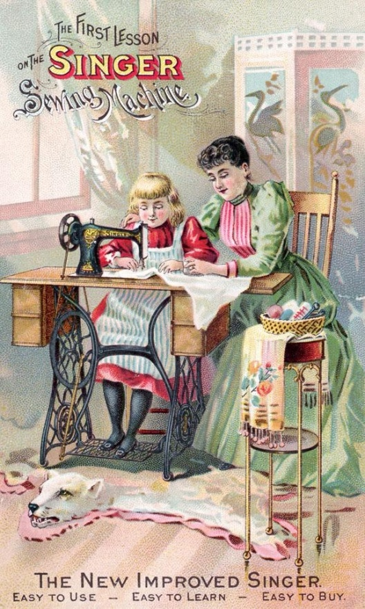 Singer Sewing Machine Ad, date unknown