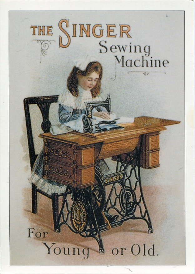 Singer Sewing Machine Ad, date unknown.
