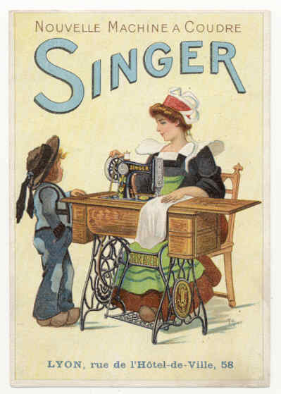 French Singer Sewing Machine Ad, date unknown.