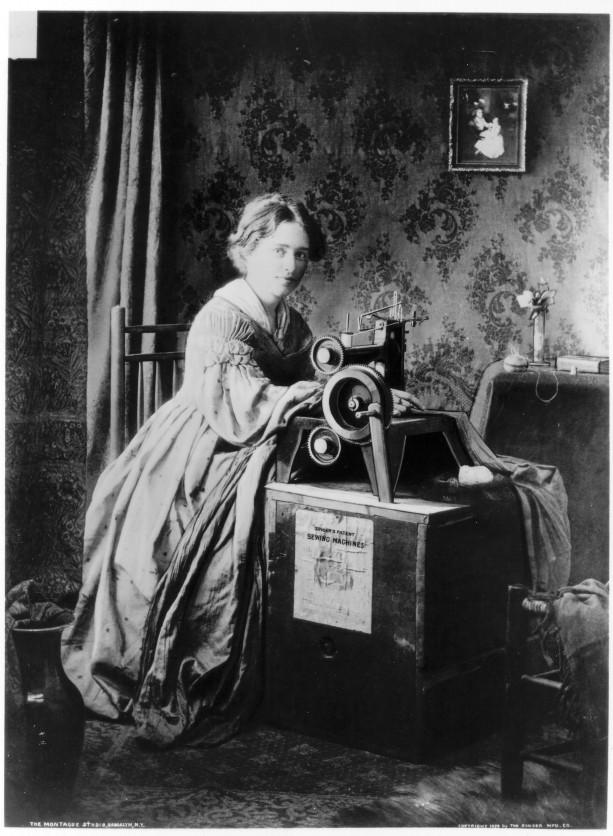 Singer Sewing Machine advertising from 1851