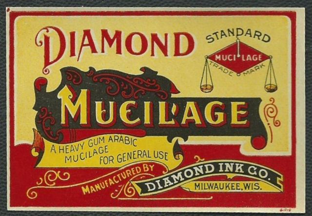 Ad for Diamond Mucilage.  Date unknown.
