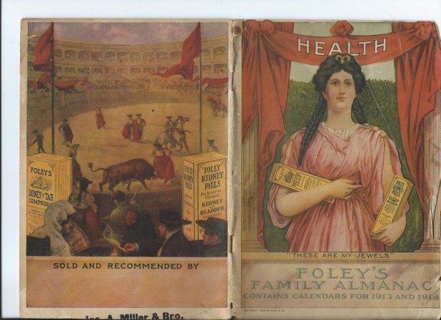 Foley's Family Almanac with calendars for 1913 & 1914.