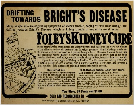 Ad for Foley's Kidney Cure, date unknown.