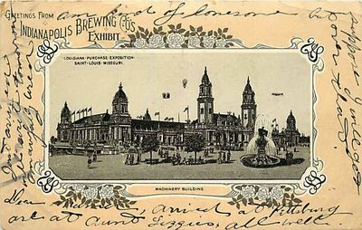 Indianapolis Brewing Co. Post card from the St. Louis World's Fair in 1904