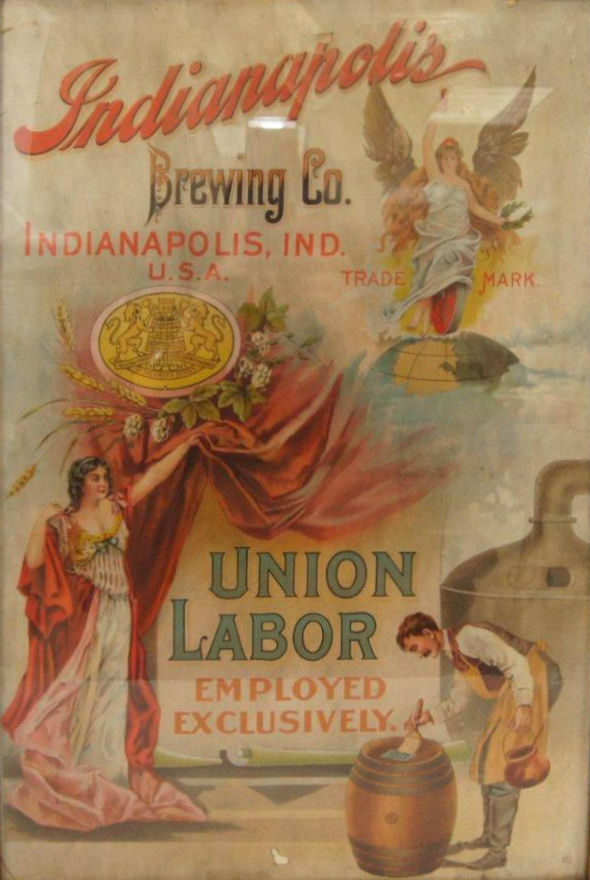 Indianapolis Brewing Co. poster, date unknown.