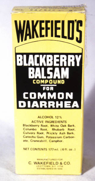 Box from Wakefield's Blackberry-Balsam, mid 20th century, from The Wing Luke Museum.