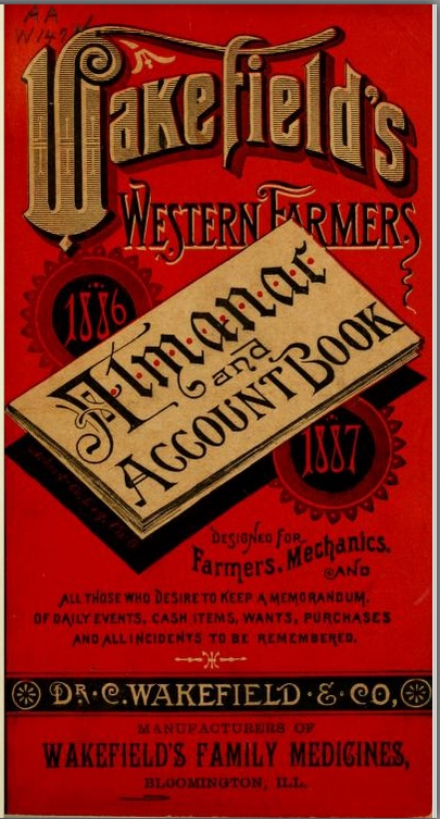Wakefield's western farmers' almanac and account book, 1886-1887