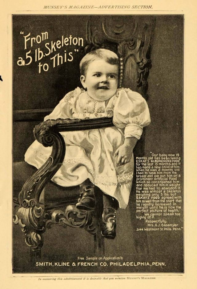 1899 Ad Eskays Albumenized Food