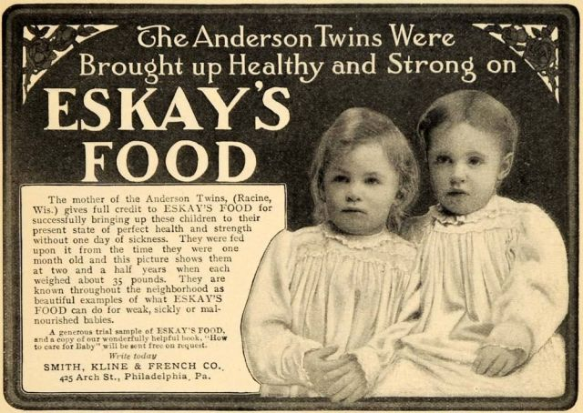 1906 Ad for Eskay's Food