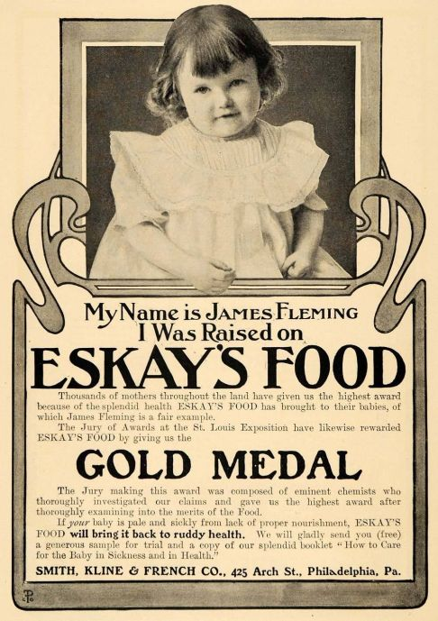1904 Ad for Eskays Food