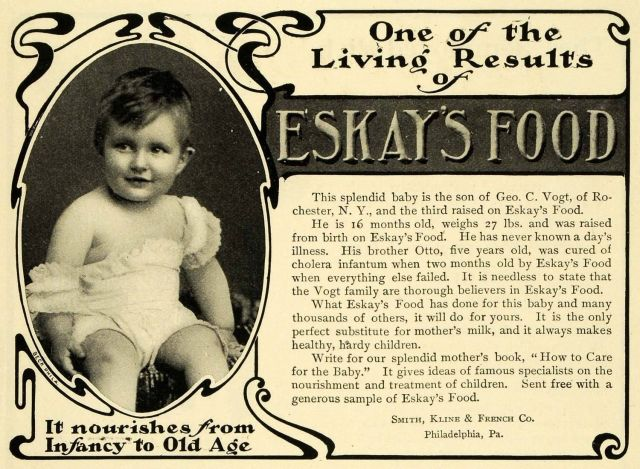 1902 Ad For Eskay Baby Food